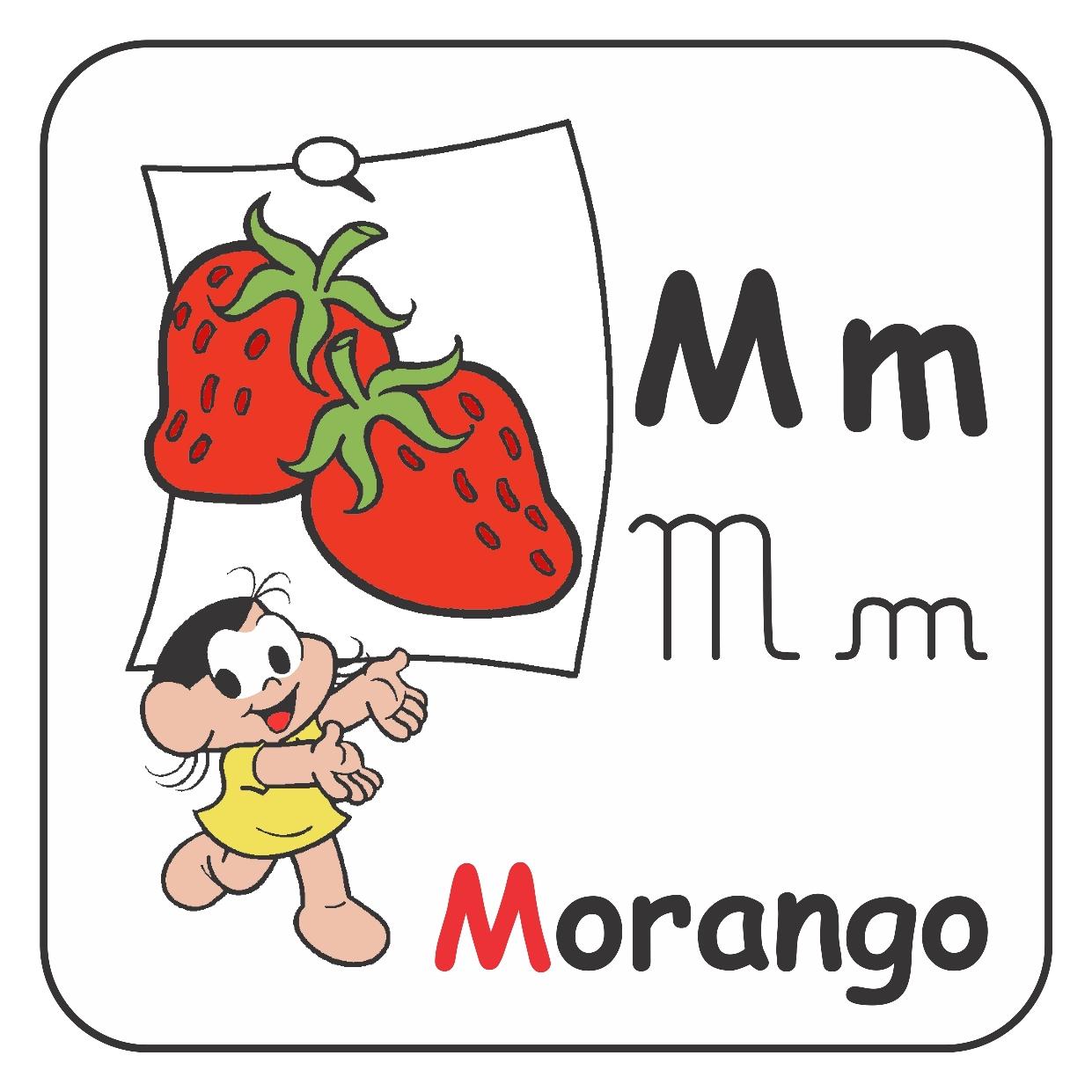 Alfabeto ilustrado da Turma da Mônica – Letra M