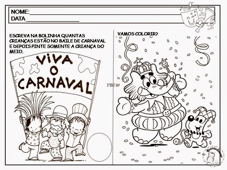 Atividades De Carnaval Para Educação Infantil E Series Iniciais