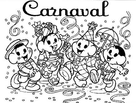Desenhos de carnaval para colorir e imprimir