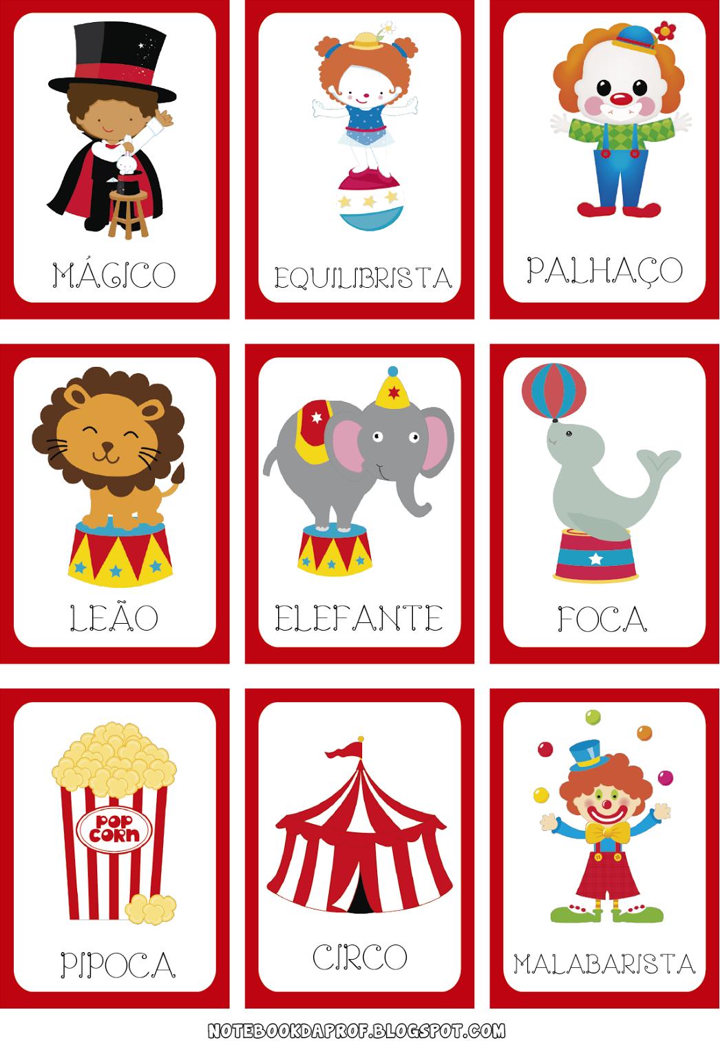 Jogo da Memória para o Dia do Circo