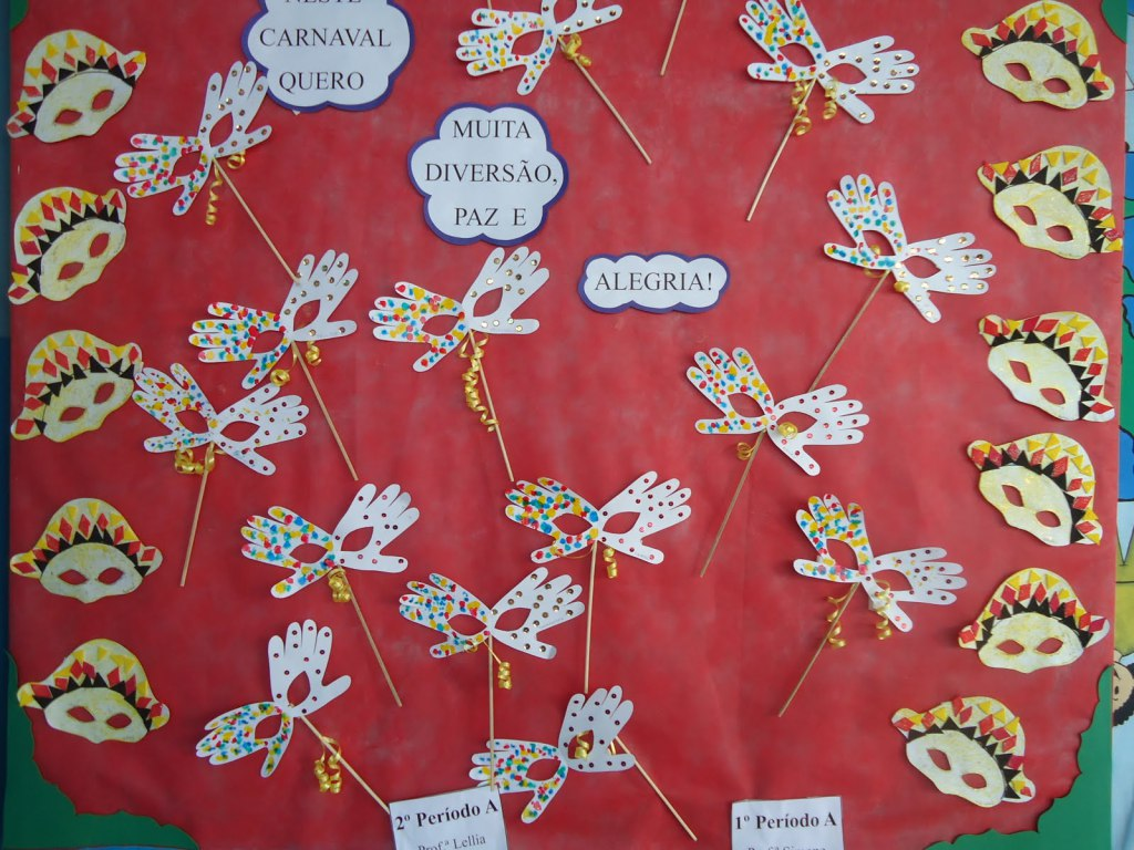 Cartaz de carnaval para escola da Educação Infantil