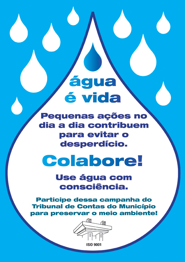 Cartaz Dia da Água em EVA