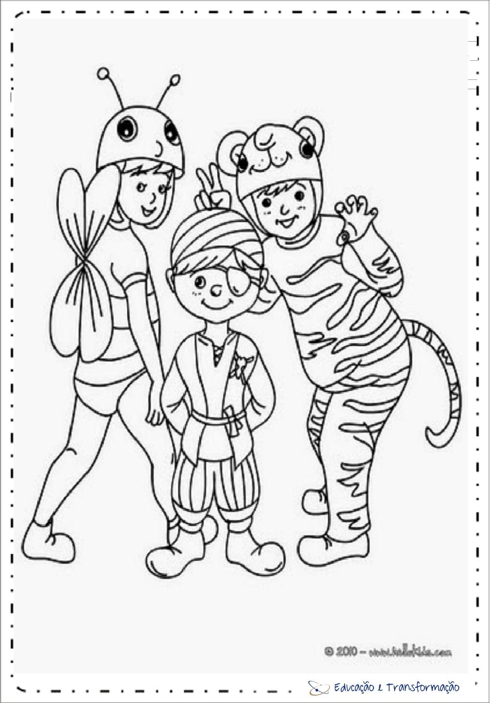 Desenhos De Carnaval Para Colorir E Imprimir Educacao E