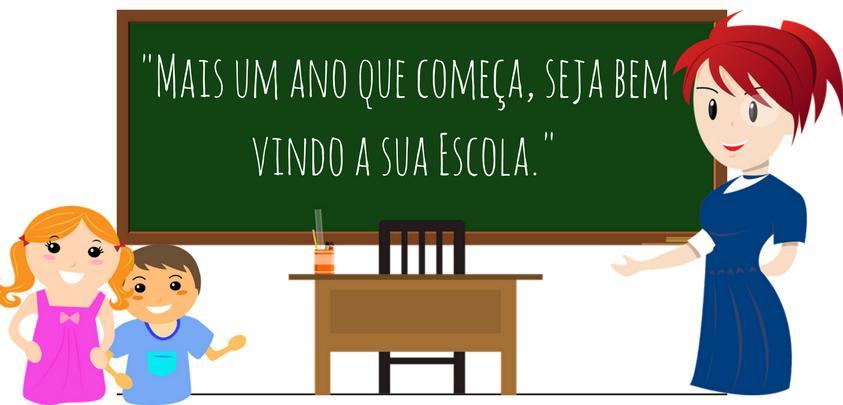 Mensagem de volta às aulas ilustradas