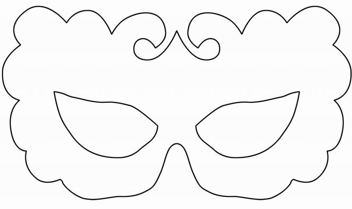 Moldes de Máscara de Carnaval para imprimir