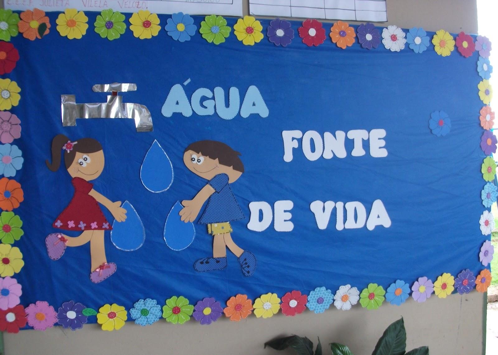 Mural Dia da Água em EVA para escola