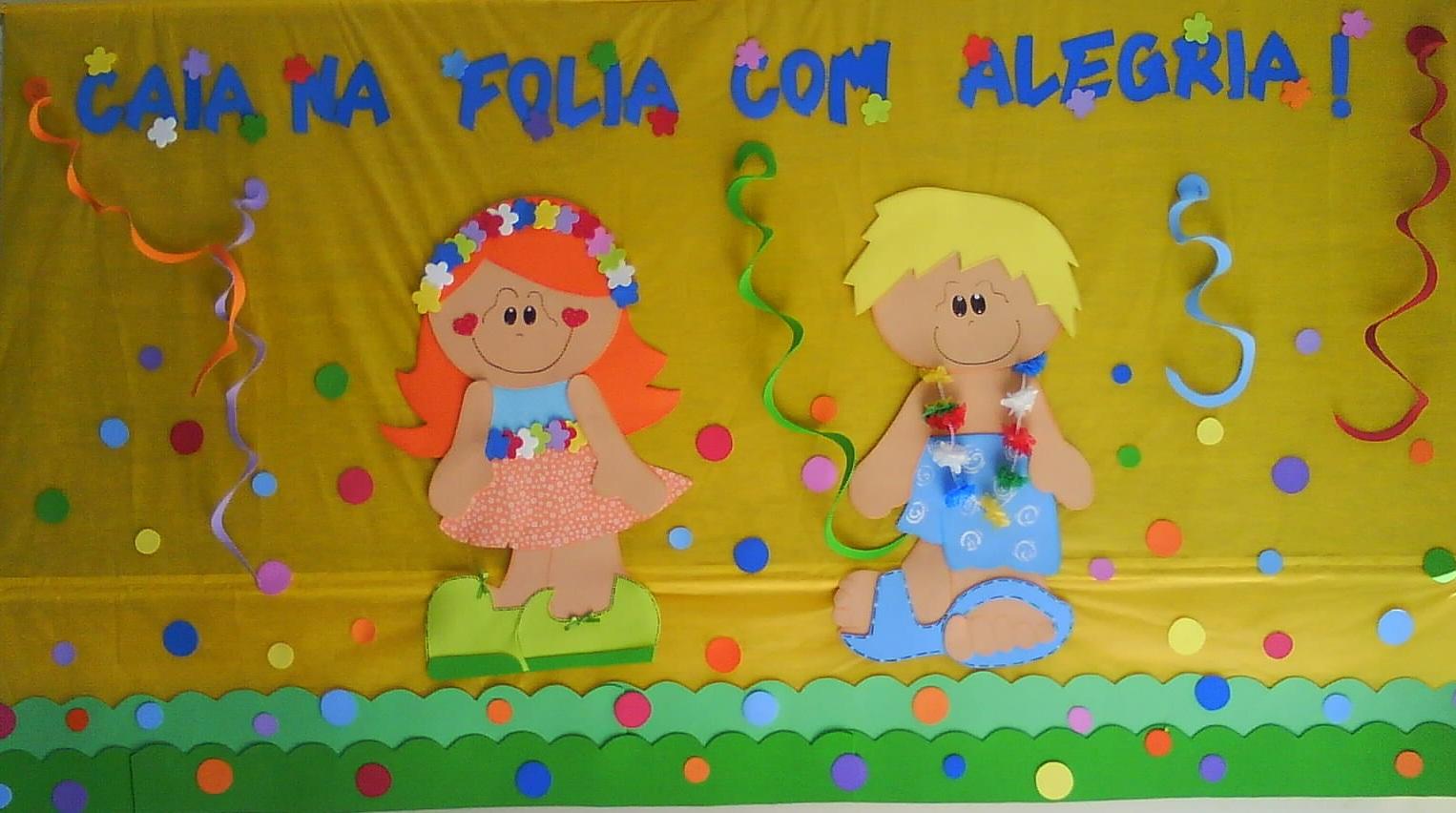Painel de carnaval na escola para educação infantil