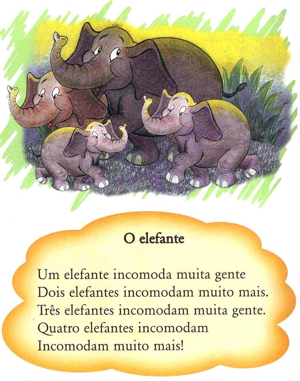 Textos Cantados –  O elefante