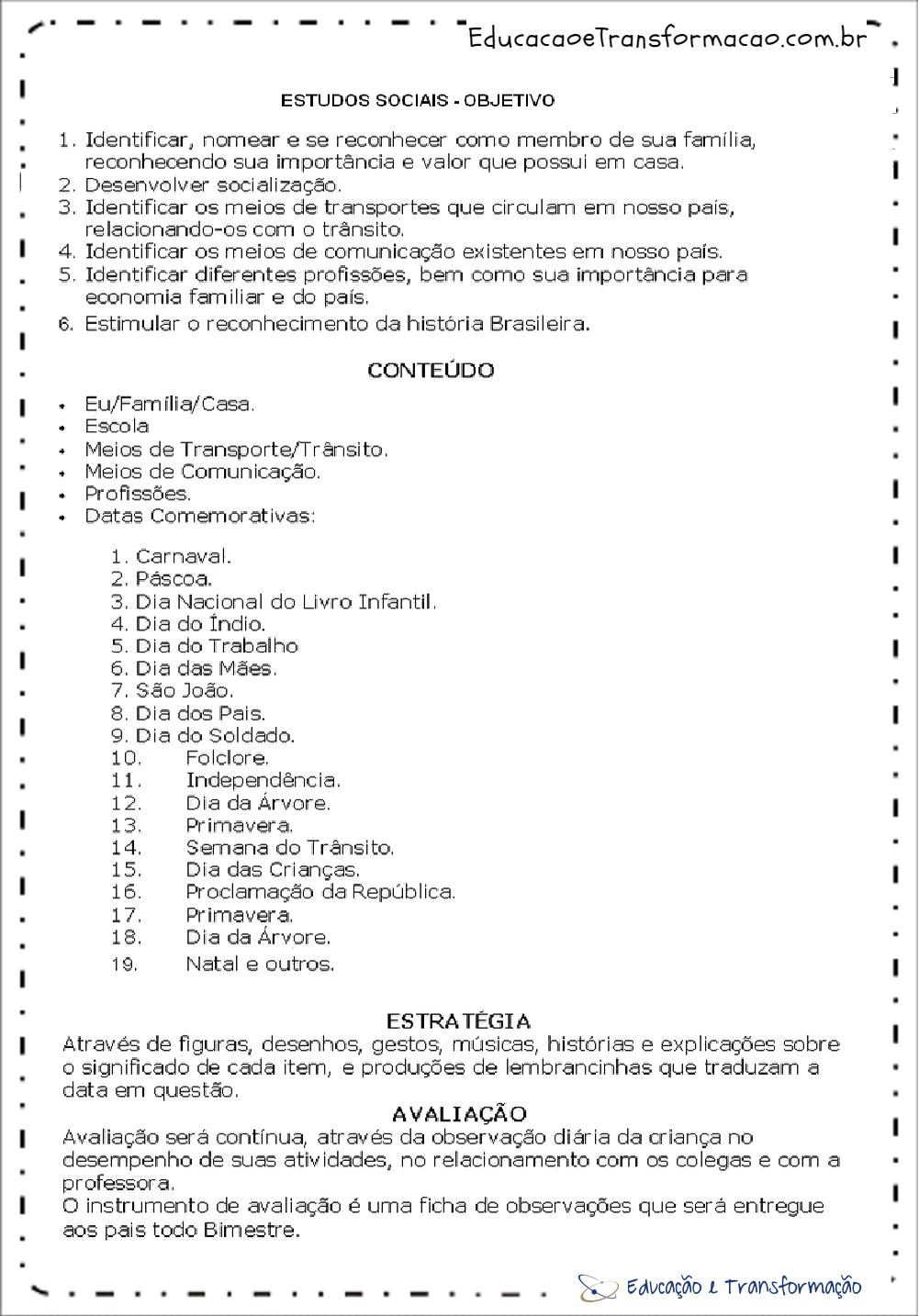 Extremamente Planejamento anual educação infantil - Planos de aula infantil em PDF BU84