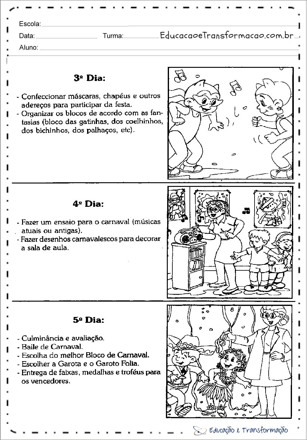 Top Plano de Aula Carnaval para Educação Infantil e Ensino Fundamental QW99
