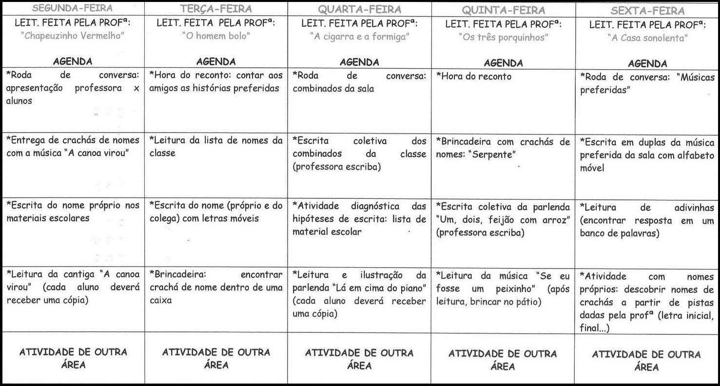 Excepcional Rotina para primeira semana de aula imprimir – Educação e  SM12