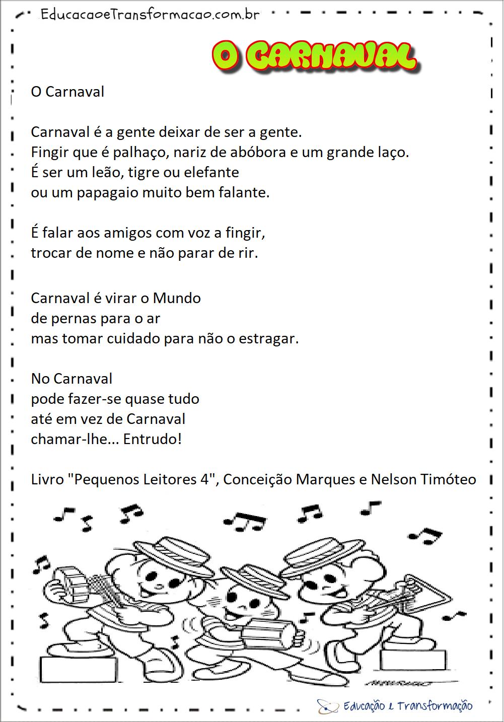 Textos sobre o Carnaval para imprimir - Origem e Curiosidades