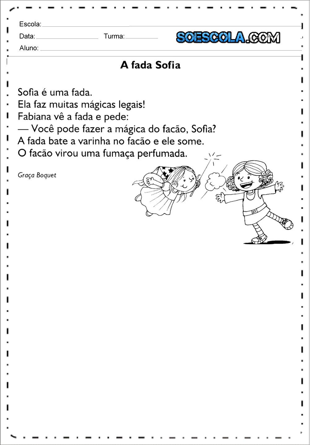 Pequenos textos para alfabetização – Textos para leitura