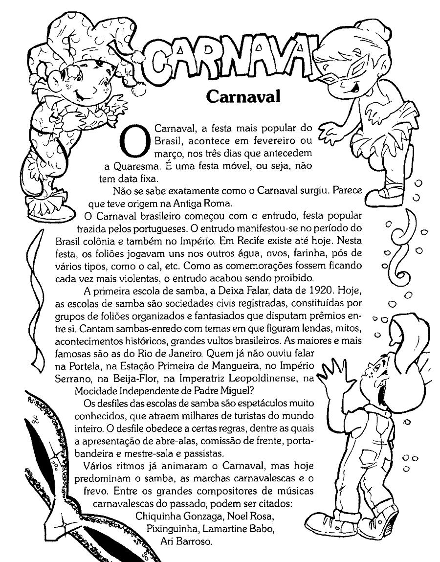 Textos sobre a origem do Carnaval