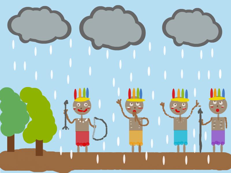 Atividades do Dia do Índio - Dança da chuva