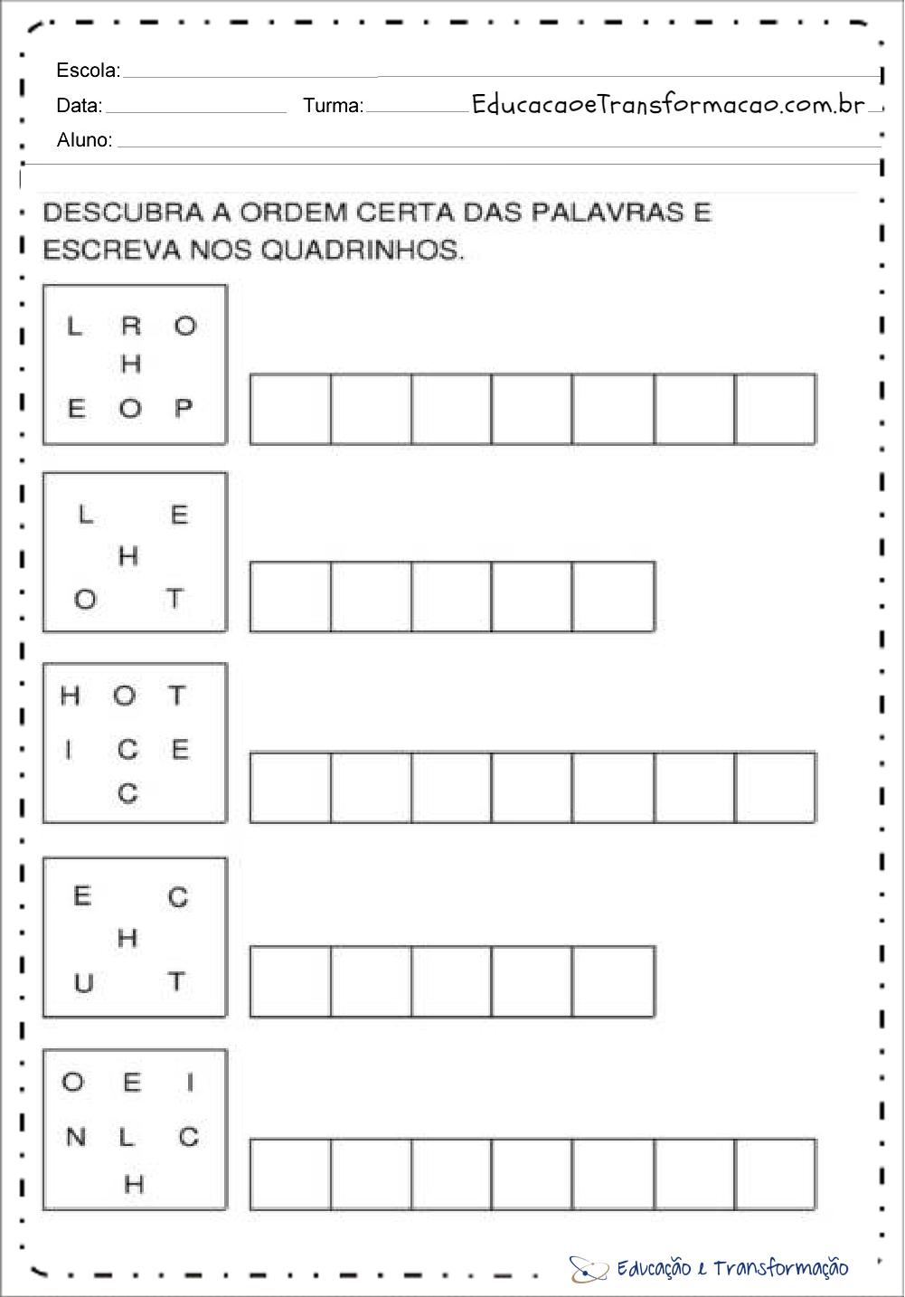 atividades com a letra h para alfabetização atividades educativas