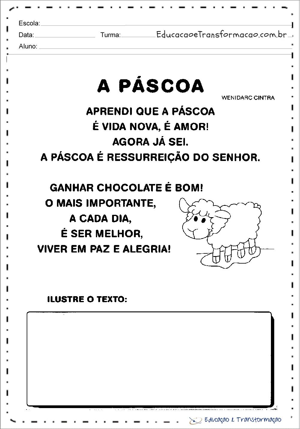 Atividades de Páscoa Educação Infantil