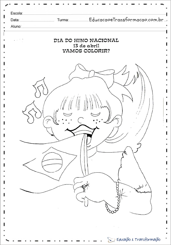Atividades Dia do Hino Nacional Brasileiro