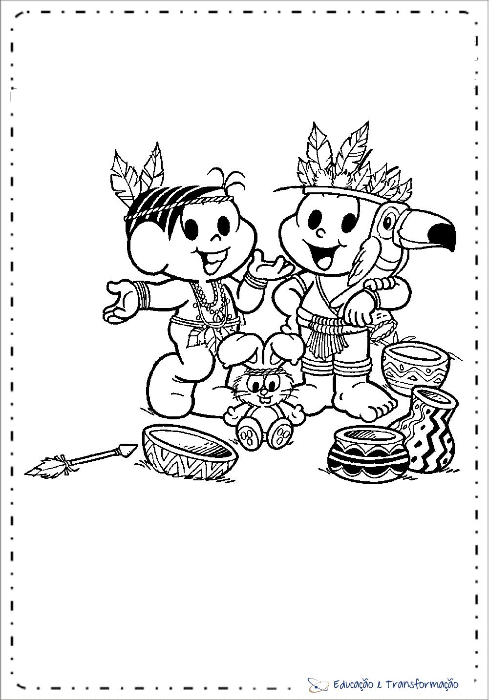 Atividades Dia do Índio - Desenhos para colorir