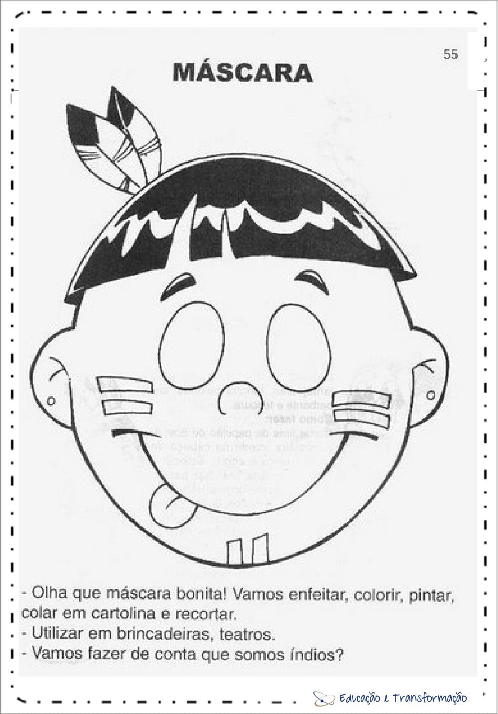 Atividades Dia do Índio - Máscaras para imprimir