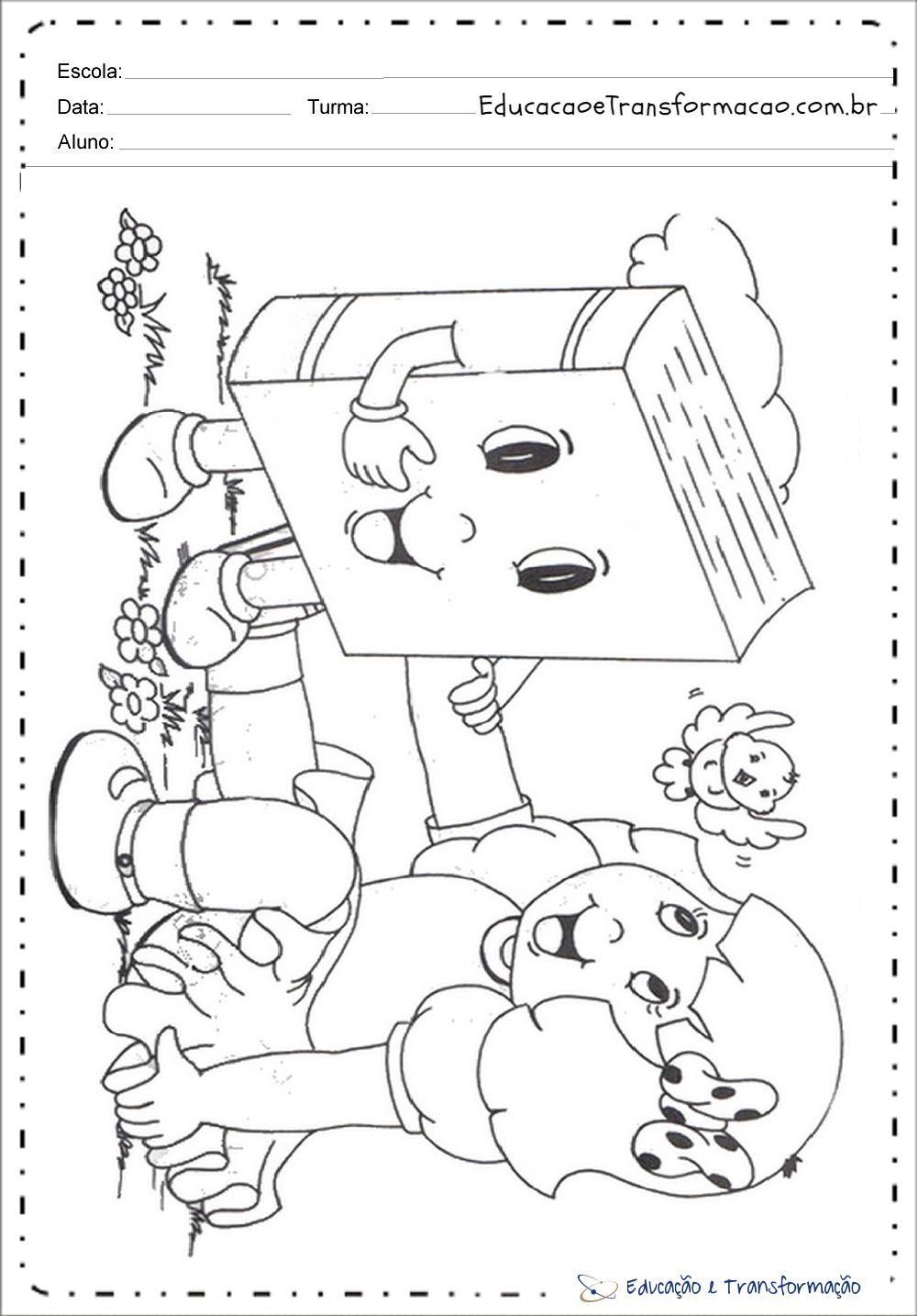Atividades Dia Do Livro Educacao Infantil Para Imprimir E Colorir
