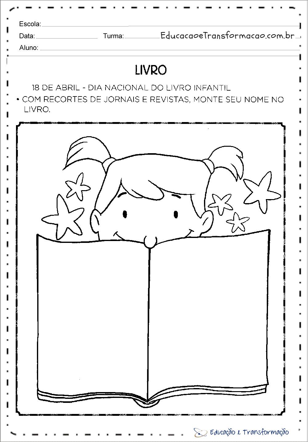 Atividades Dia do Livro Educação Infantil