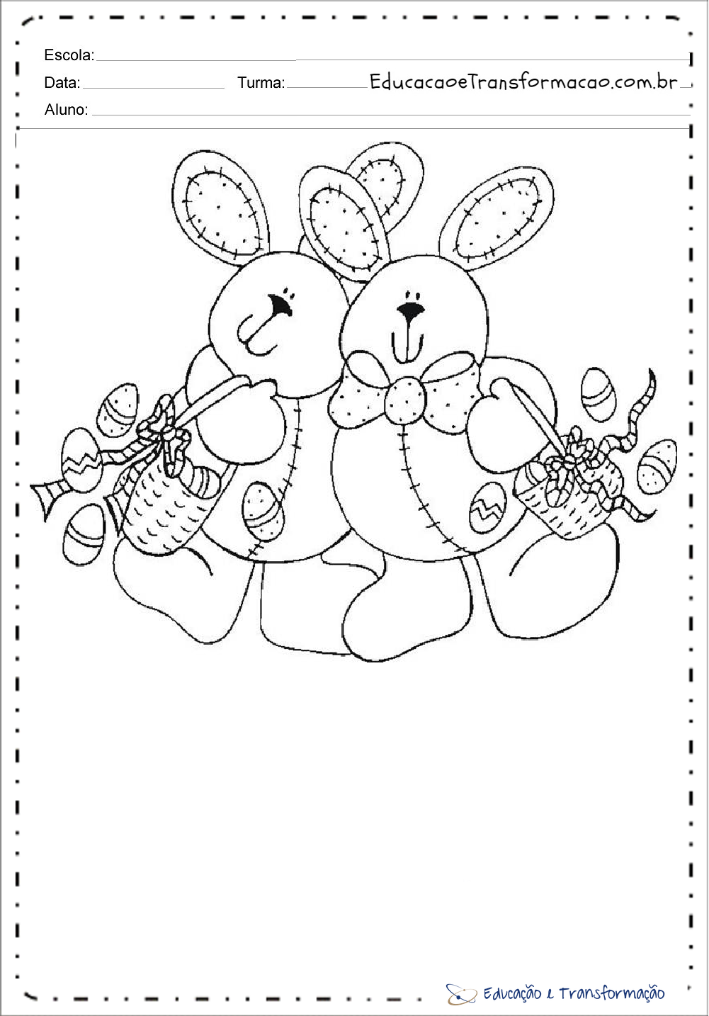 Atividades para Páscoa - Desenhos para colorir
