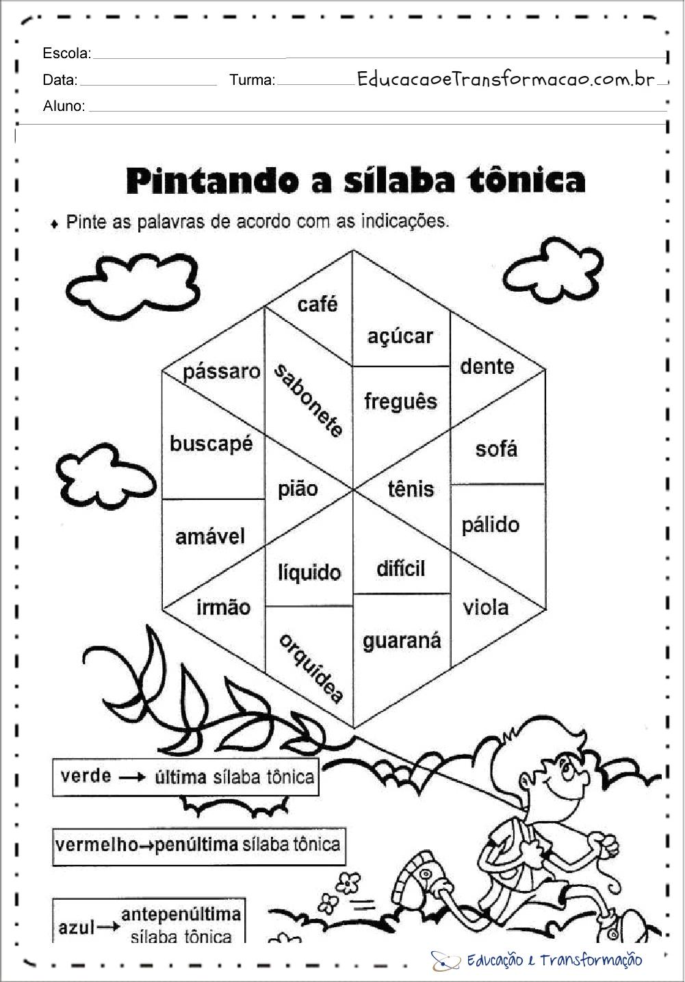 Atividades Sílaba Tônica