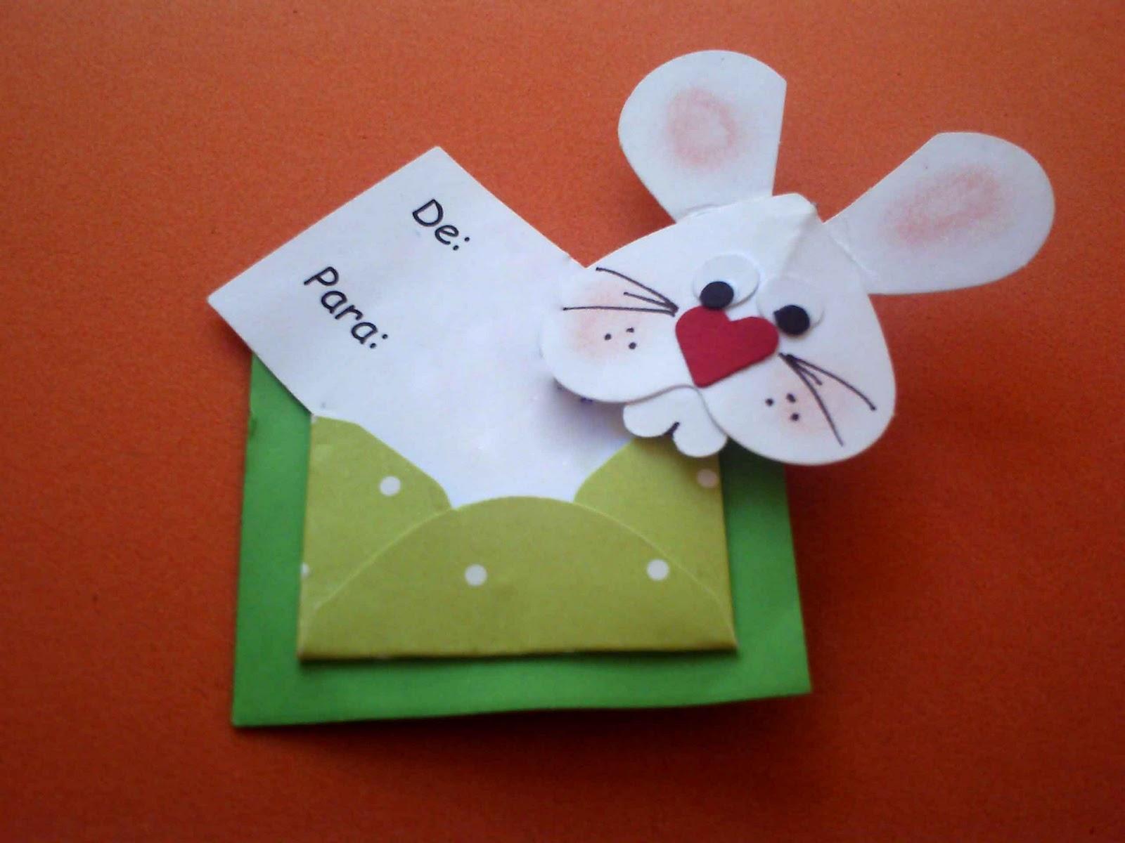 Cartão de Páscoa em EVA