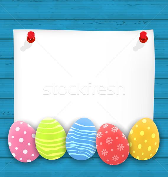 Cartão de Páscoa ilustrado para imprimir