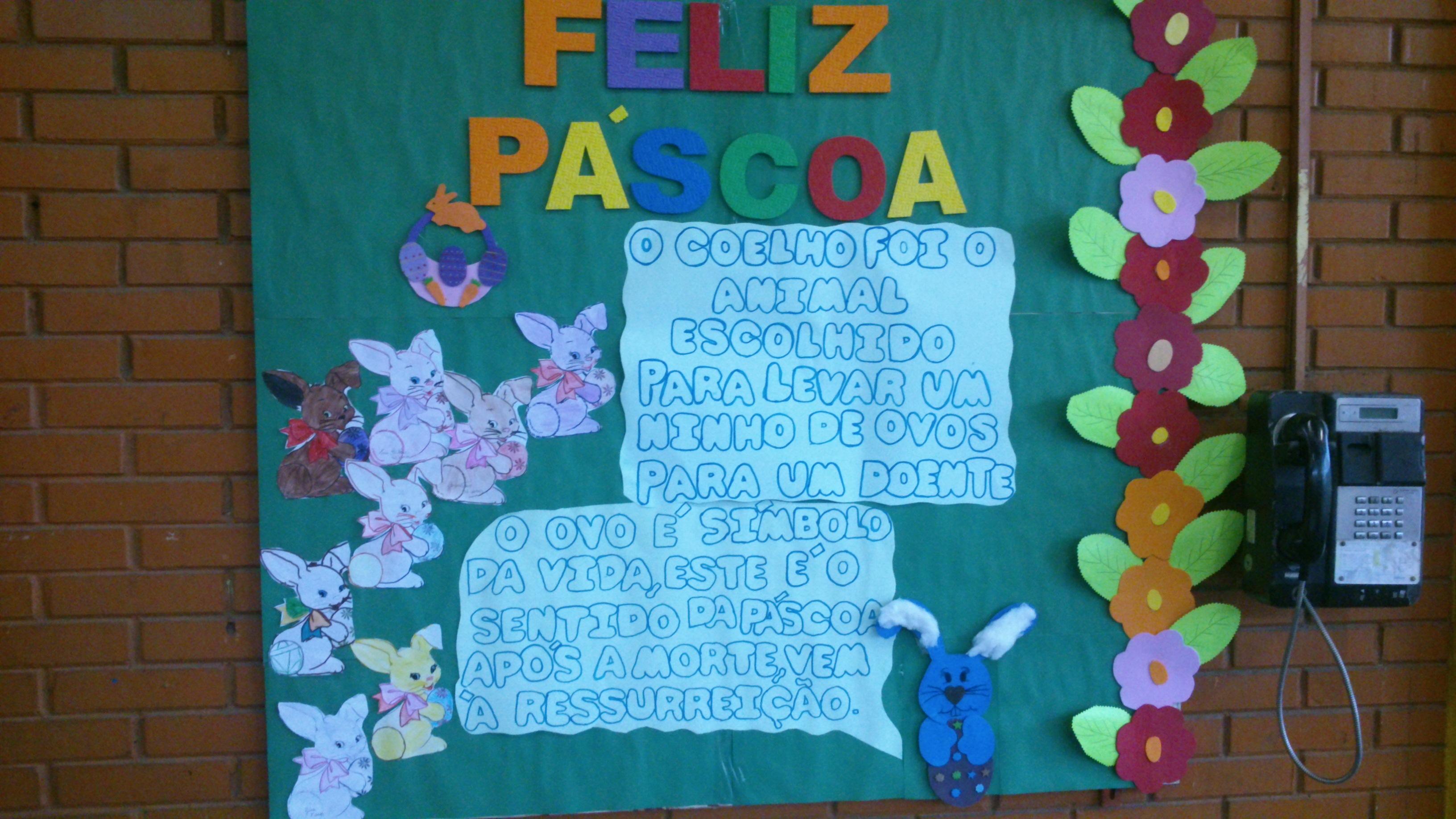 Cartaz de Páscoa em EVA