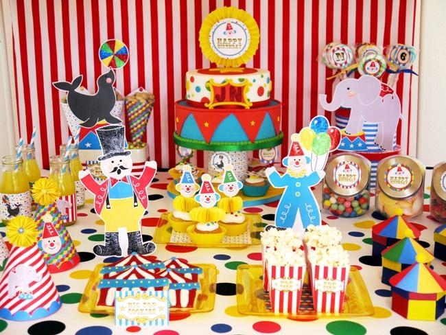Decoração Circo para Festas Infantis para meninos e meninas