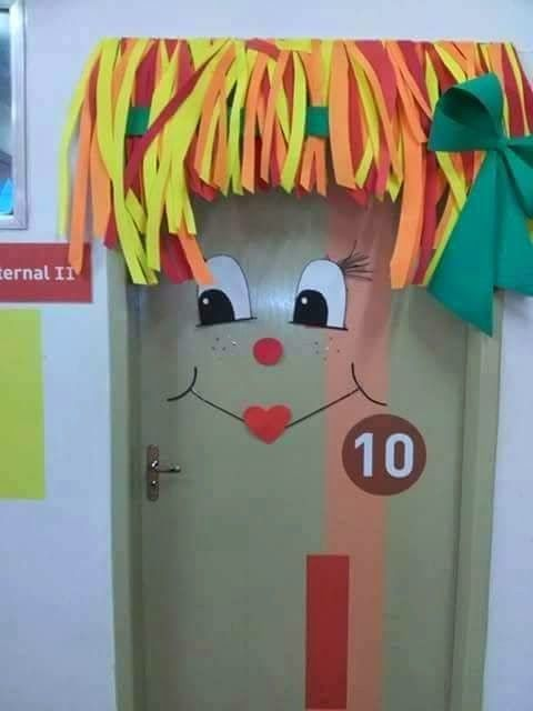 Decoração Dia do Livro Infantil - Porta Decorada