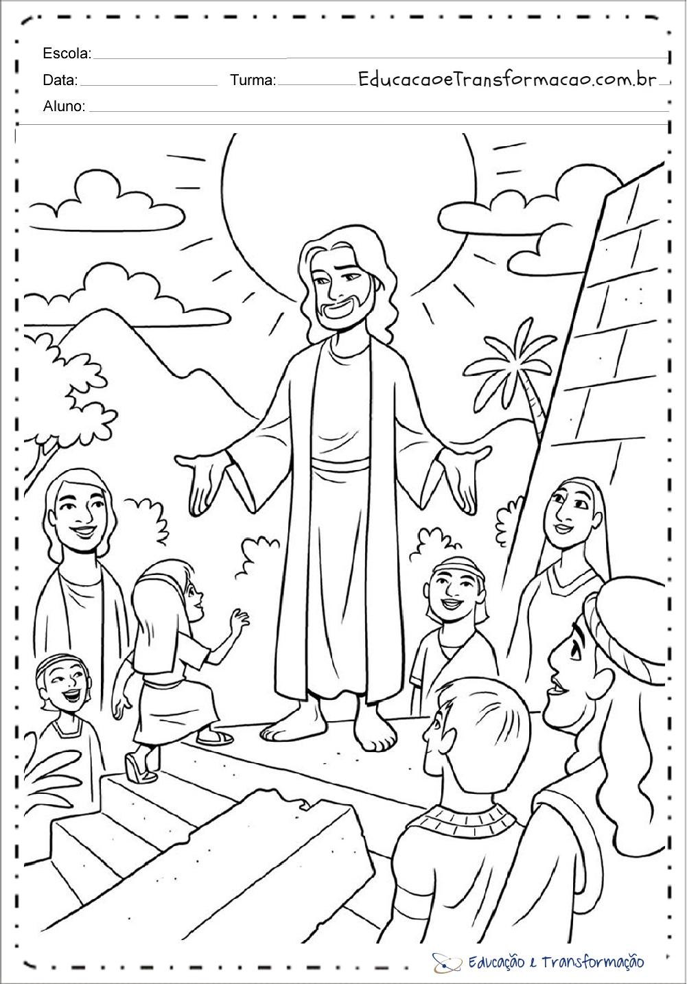 Desenhos Bíblicos para colorir e imprimir
