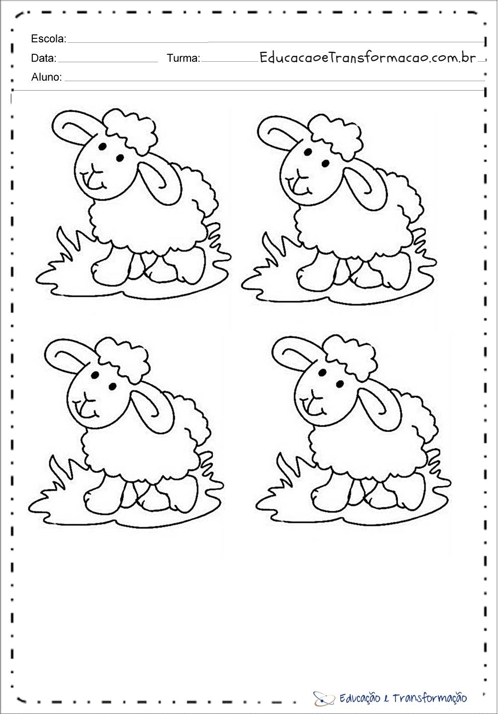 Desenhos de Ovelhas para colorir
