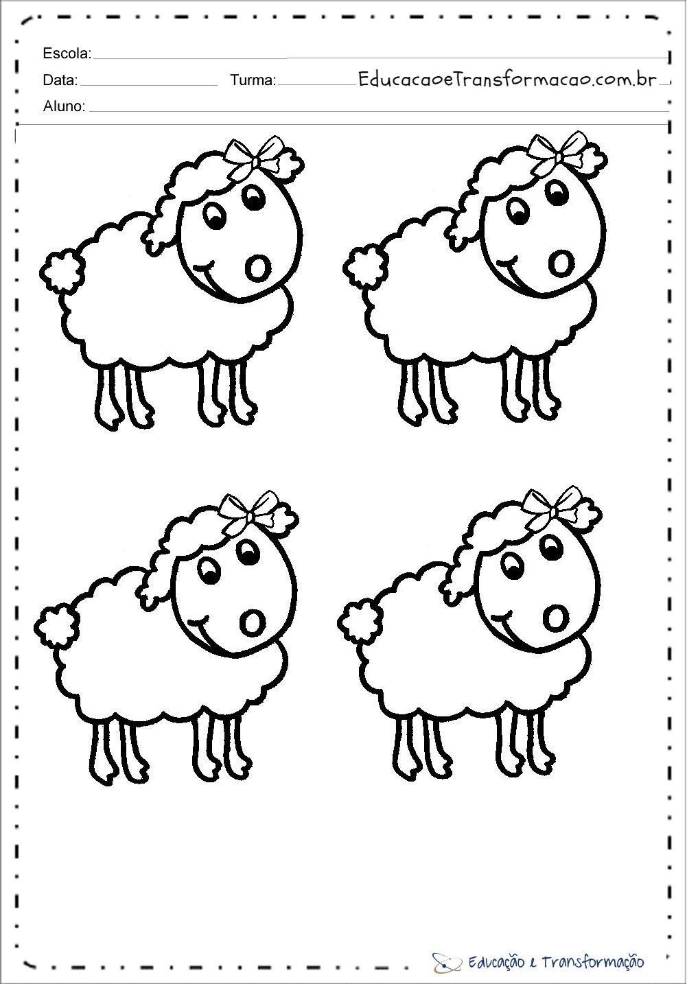 Desenhos De Ovelhas Para Colorir E Imprimir Ovelhas De Pascoa