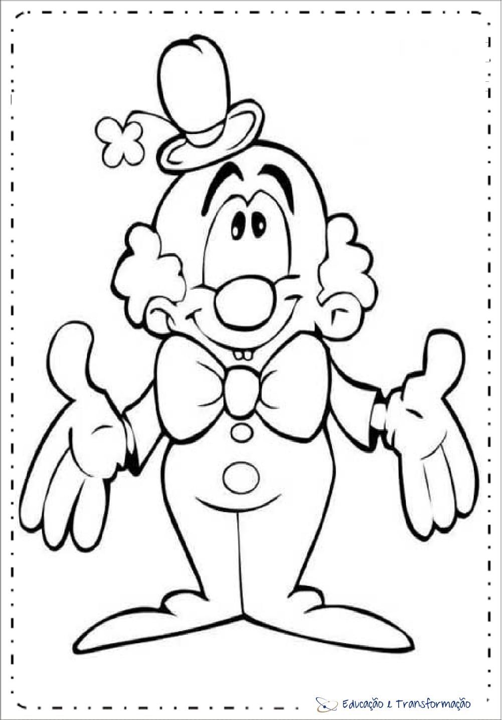 Atividades Dia Do Circo Para Educacao Infantil Desenhos De