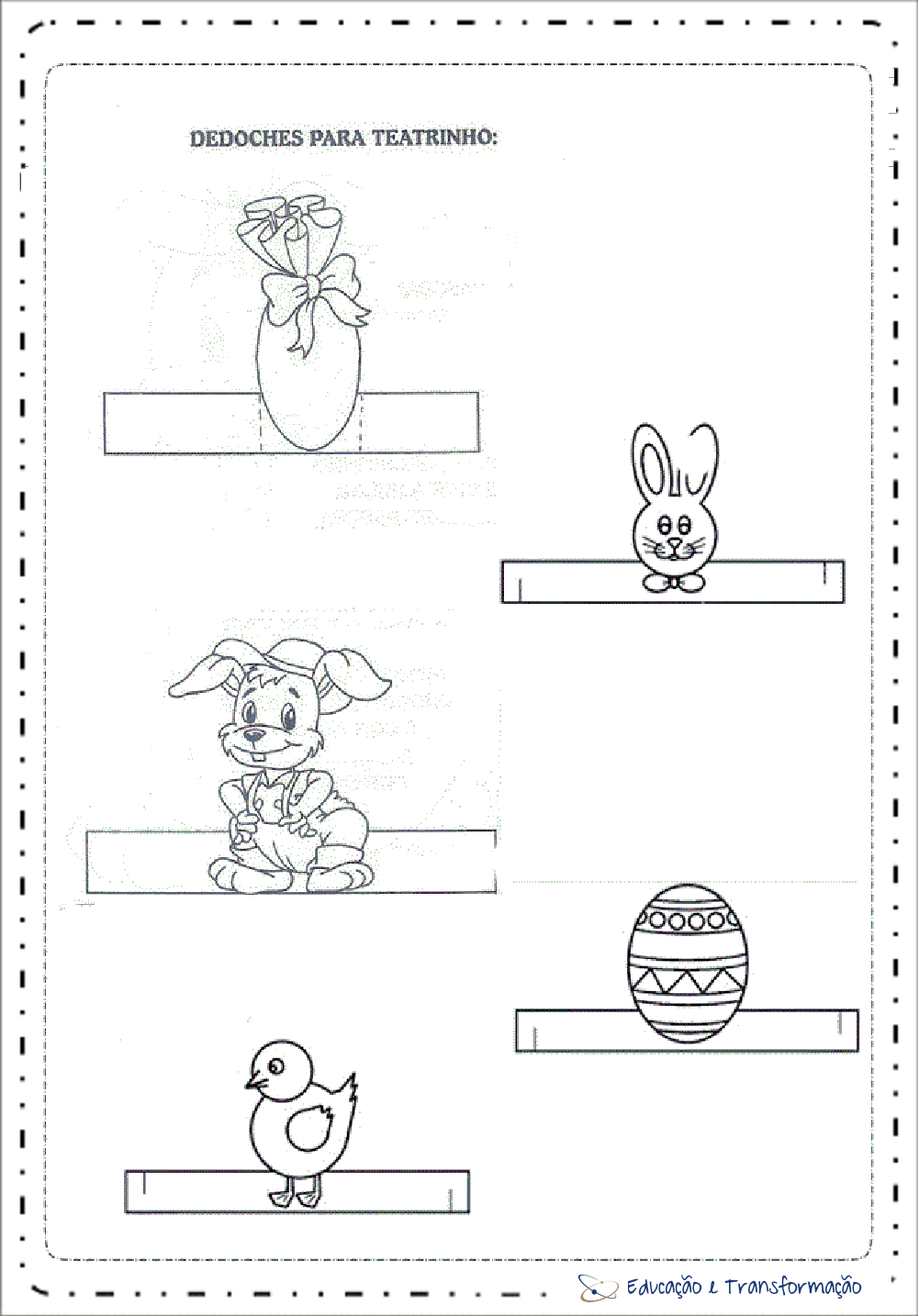 Lembrancinhas de Páscoa para escola para imprimir