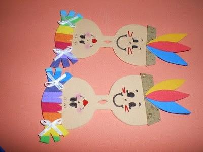 Lembrancinhas Dia do índio em EVA