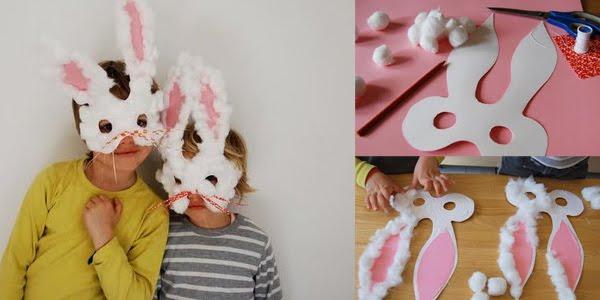 Máscaras de Coelhinho para a Páscoa
