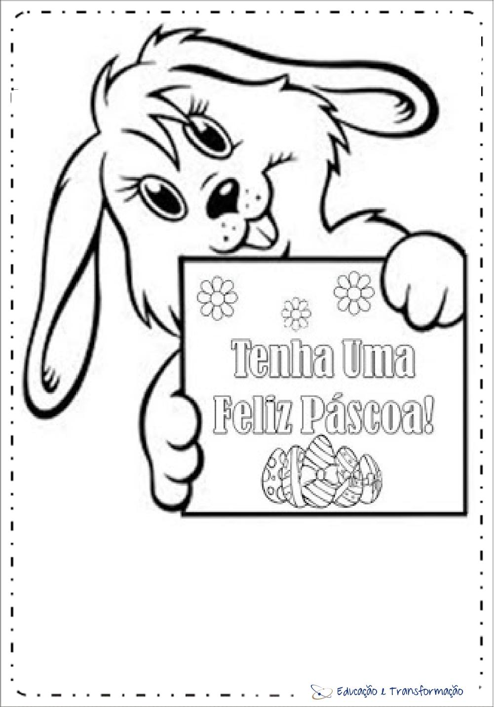 Mensagens de Páscoa para colorir- Tenha uma feliz páscoa