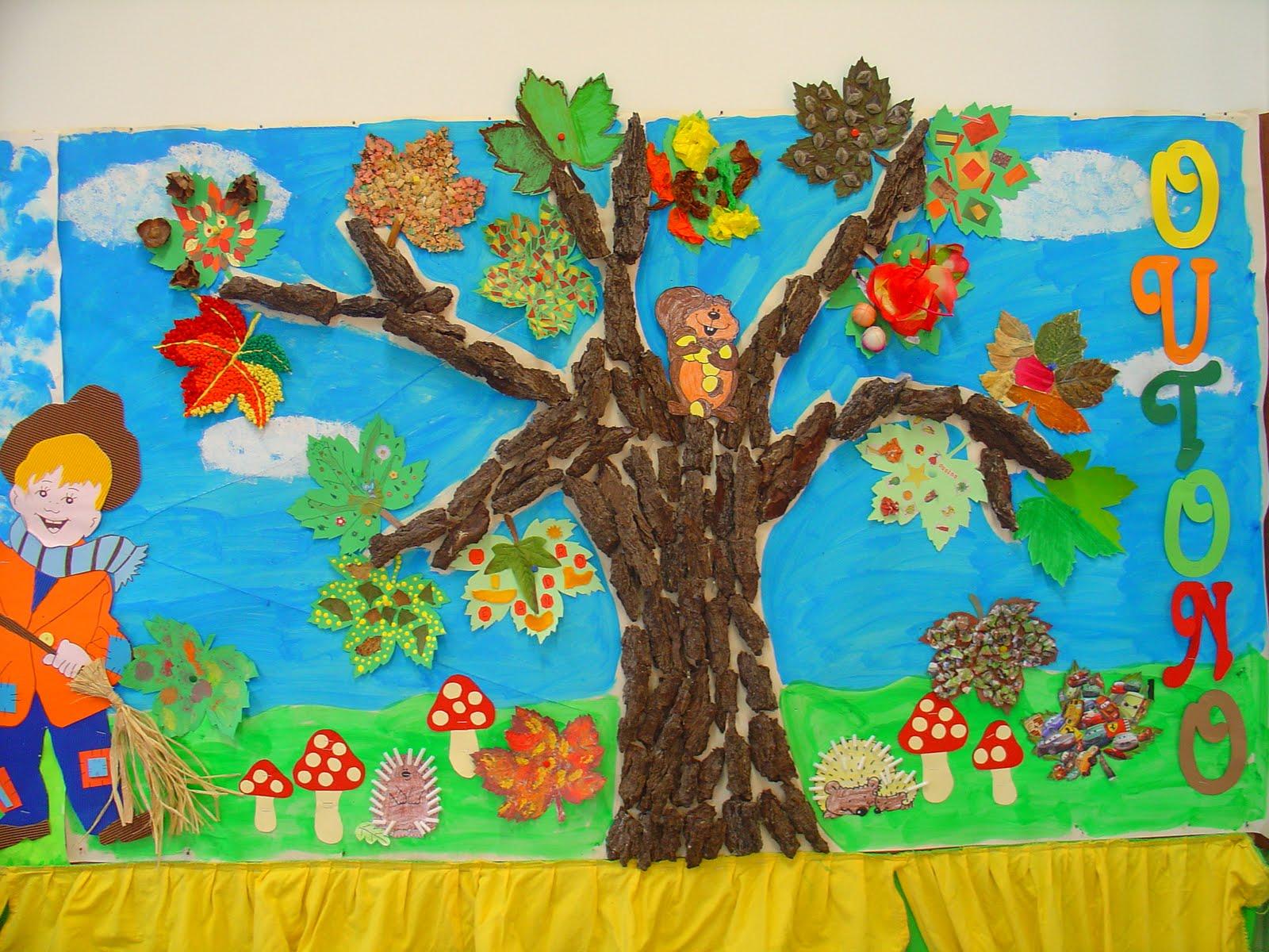 Mural de Outono para Educação Infantil