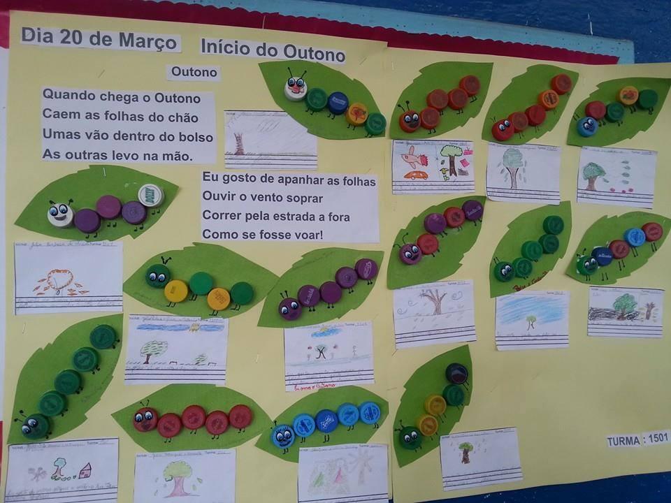 Mural De Outono Em Eva Para Educação Infantil Painéis E Cartazes