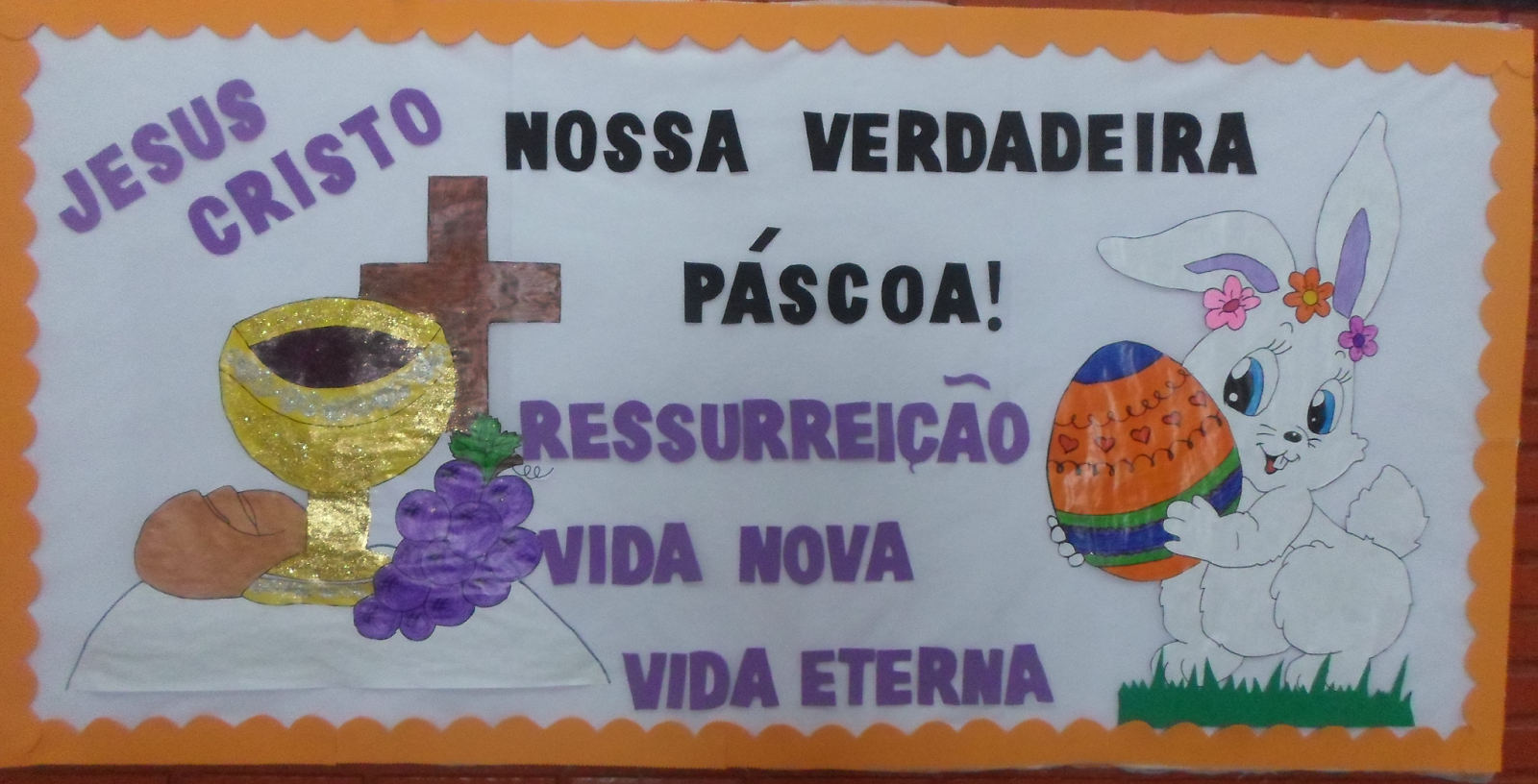 Mural de Páscoa para Educação Infantil em EVA