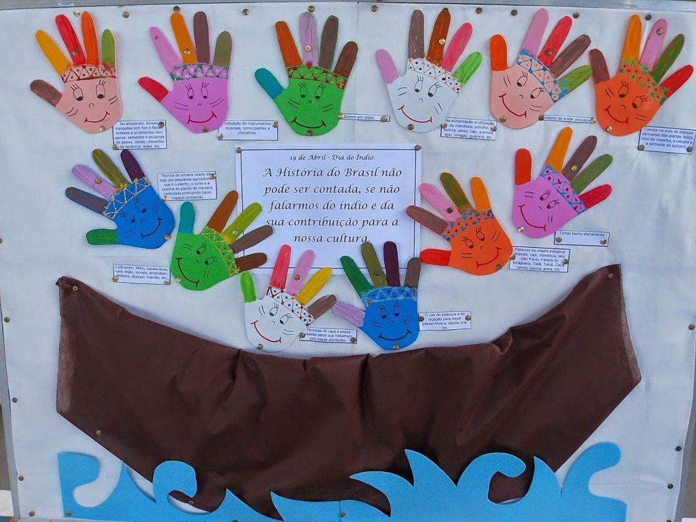 Murais e pain is para o dia do ndio educa o e for Mural de natal 4 ano