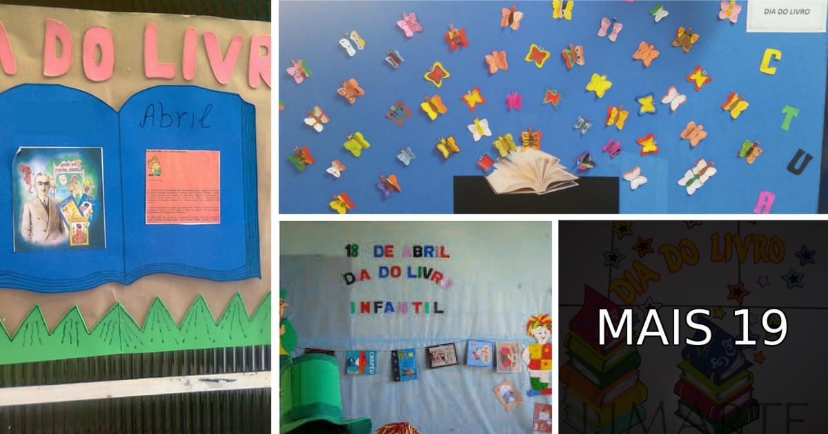 Mural Dia Do Livro Infantil Em Eva Com Moldes Painéis E Cartazes