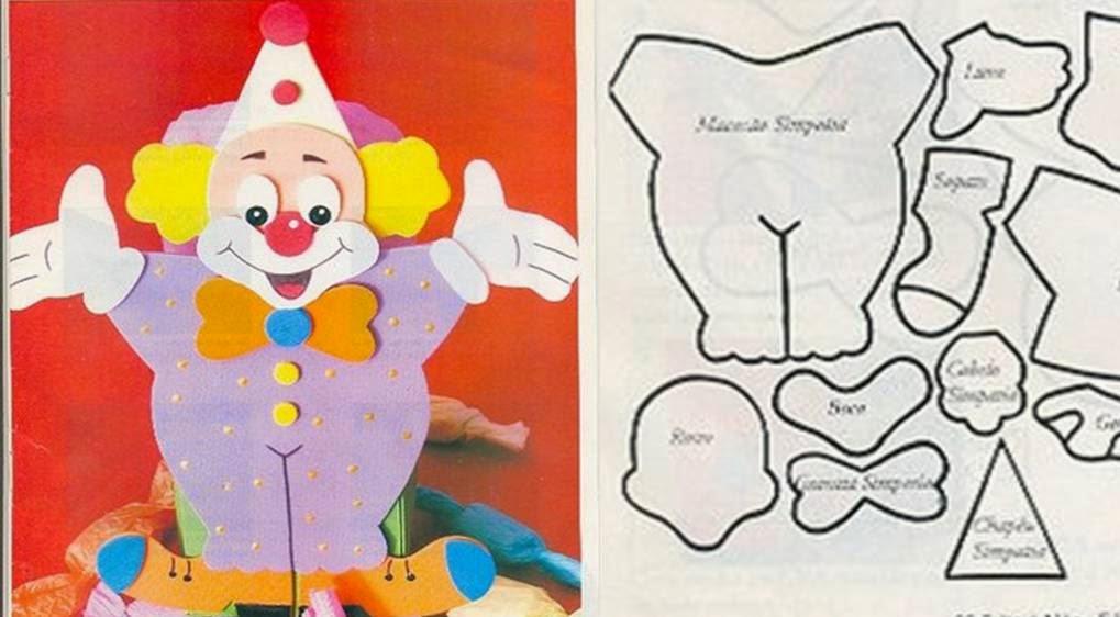 Painel dia do circo – Moldes de Palhaços