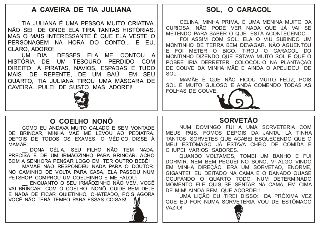 Textos para leitura para imprimir