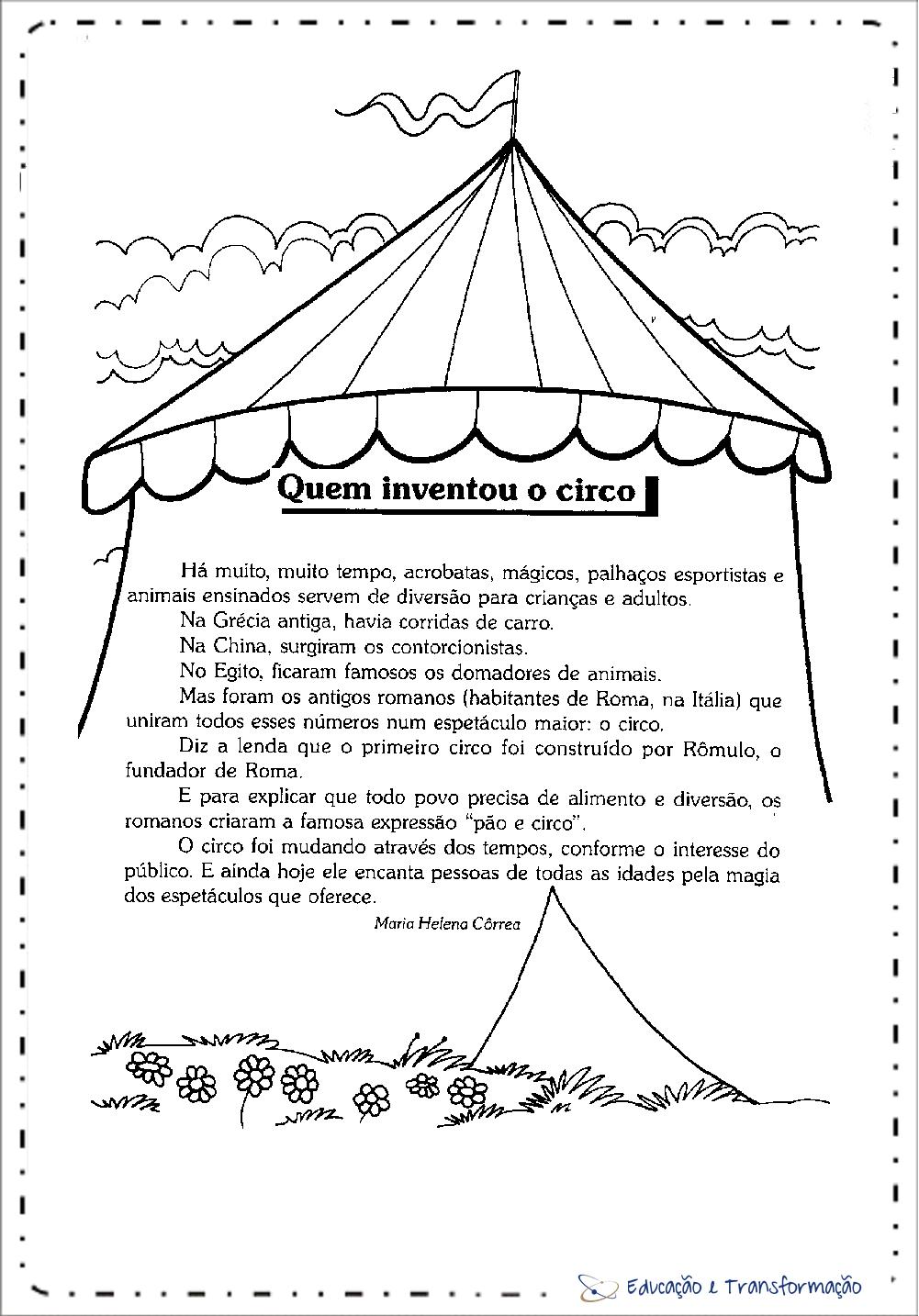 Textos sobre o Circo - Quem inventou o circo