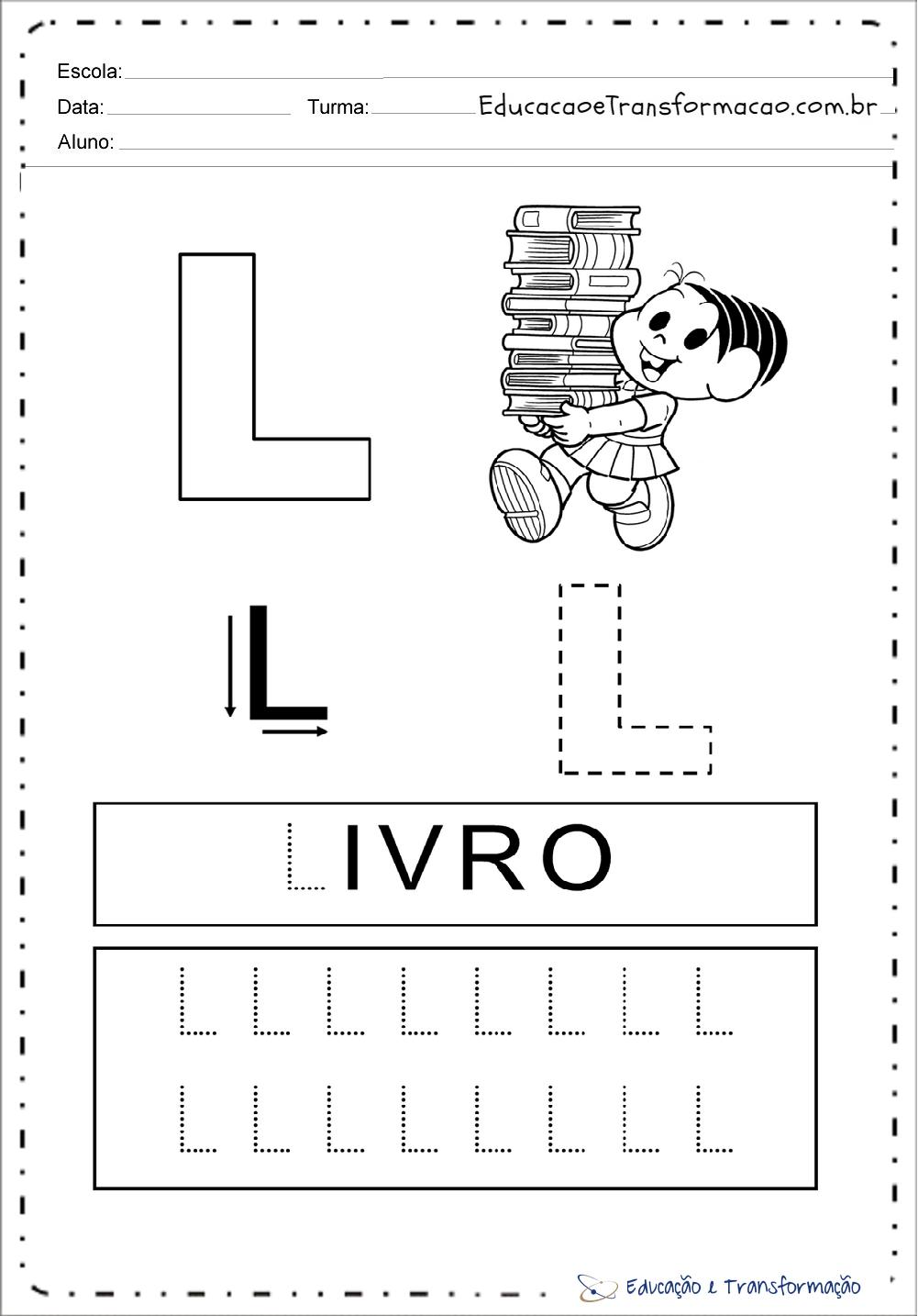 Atividades com a letra L
